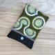 Carterita Natxo - Corcho negro y tela verde