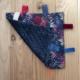 Mantita sensorial Beñat - Selva azul y rosa - minky azul