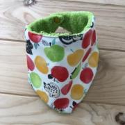 Frutas y gatetes - toalla verde
