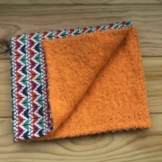 Mariposas - toalla naranja