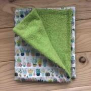 Tiestos flores - toalla verde