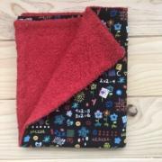 Pizarra - toalla roja