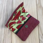 Kraftex rojo y tela con sandías