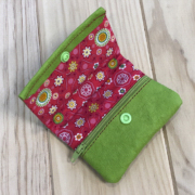 Kraftex verde y estampado rosa