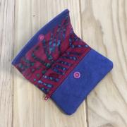 Kraftex violeta y tela batik