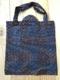 Afrika Tote bag - Wax geometriko urdina