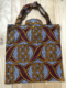 Tote bag Africa - Wax granate y mostaza